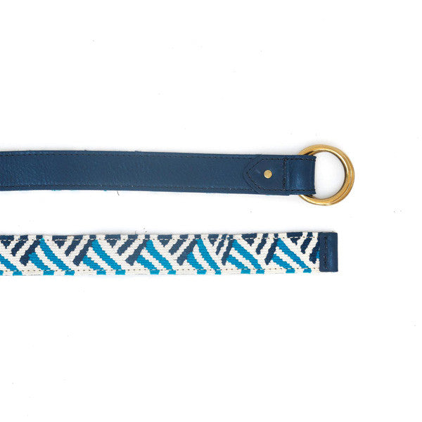 Reversible Handwoven Band/Leather Belt