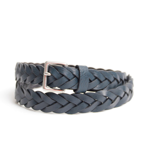 Slim Braided Leather Belt