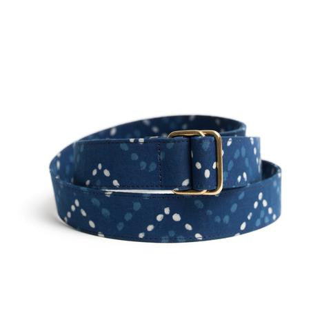 Indigo Block Print Belt