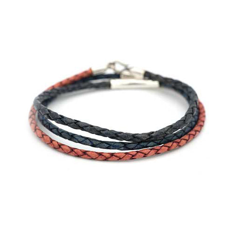 3-IN-1 Braided Leather Bracelet