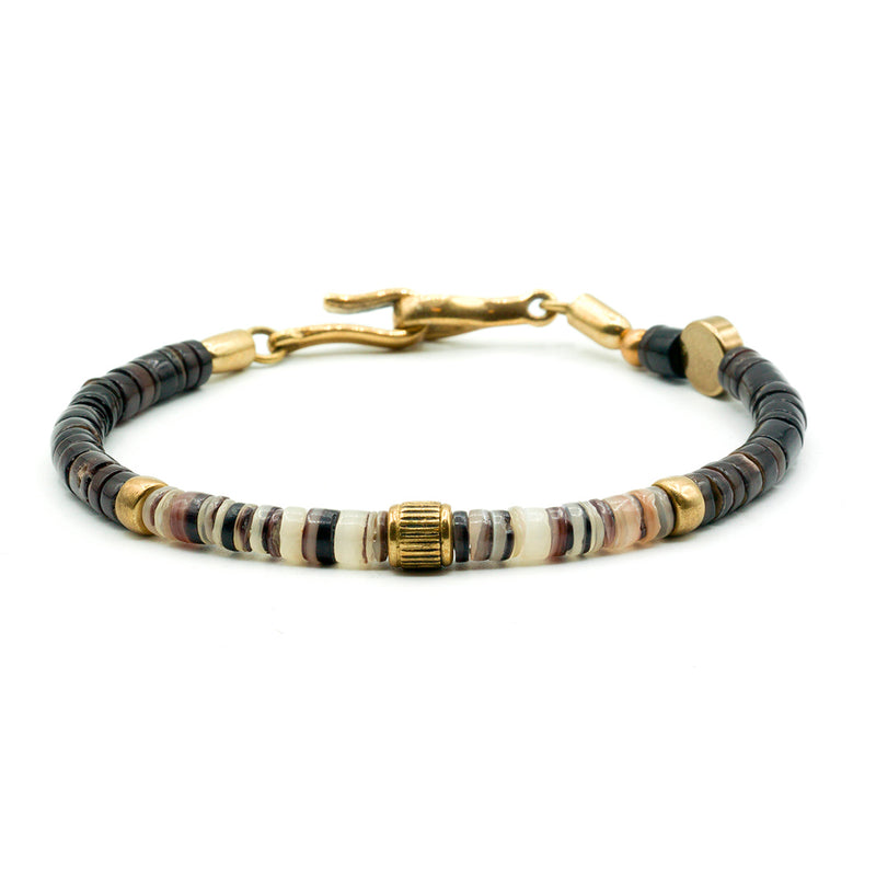 Shell and Brass Bracelet