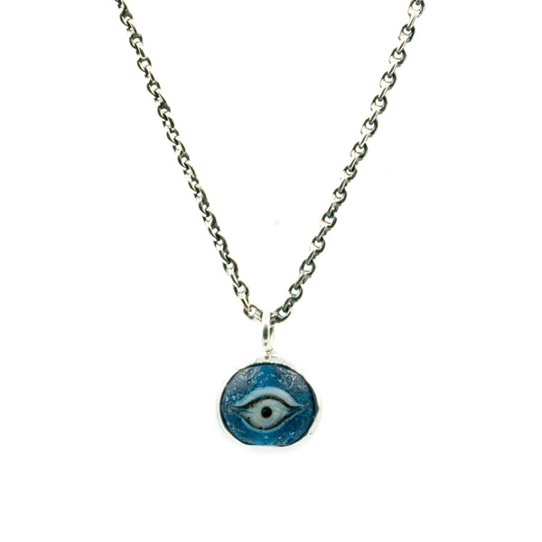 Nepalese Eye Glass Silver Necklace