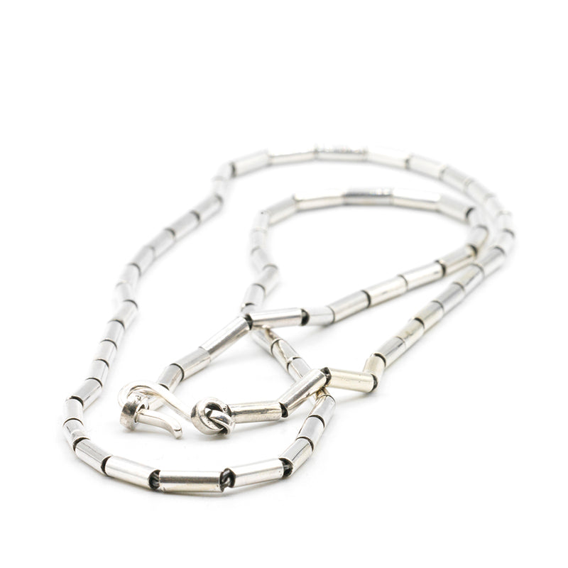 Silver Pipe Necklace