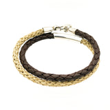 Braided Leather and Jute Bracelet
