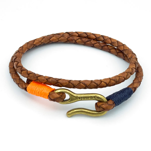 HBCU Leather Double Wrap Bracelet