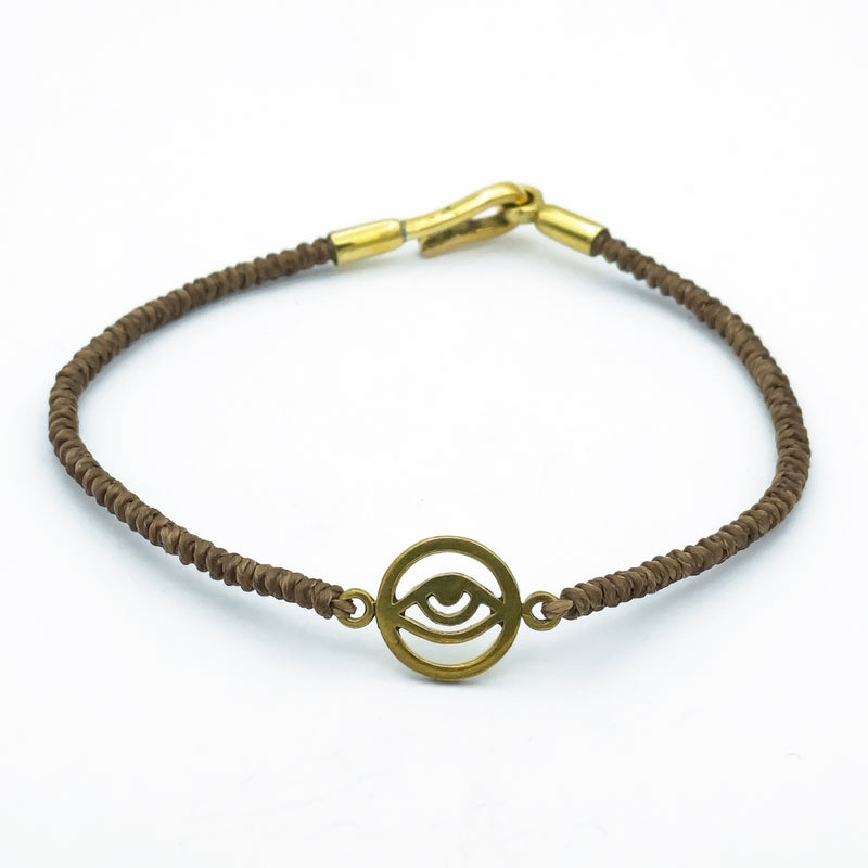 Brass Evil Eye Bracelet