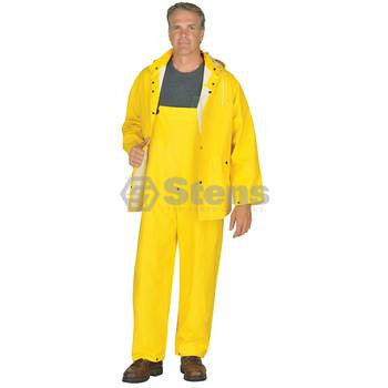 3 Piece Rainsuit,Detach Hood,Yellow,2XL / 2XLYellow Part No: 047-003 - YARMAND