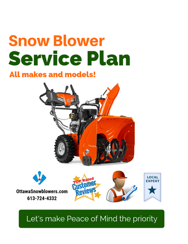 Annual Snowblower Service Plan: Ideal for anyone looking for Peace of Mind
