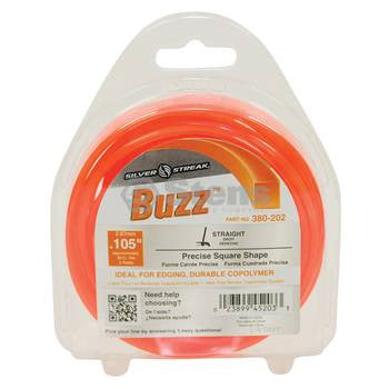 380-202 Silver Streak Buzz Trimmer Line - YARMAND