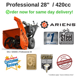 "Assembled & Ready!  PROFESSIONAL 28"" SNO-THRO +  420CC ARIENS POLAR FORCE PRO ENGINE [926065]"