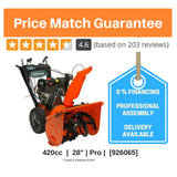 "From $82/month: Professional 28"" + 21.0 ft-lbs, 420cc Ariens Polar Force Pro engine [926065]"