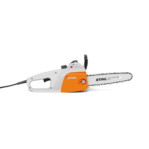 "MSE 141 16"" Lightest, most affordable electric STIHL chainsaw."