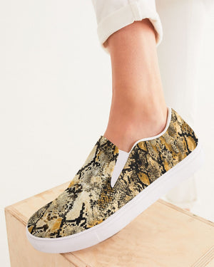 Safari | Golden Diamondback Women's Slip-On Canvas Shoe - Katrynthia Law