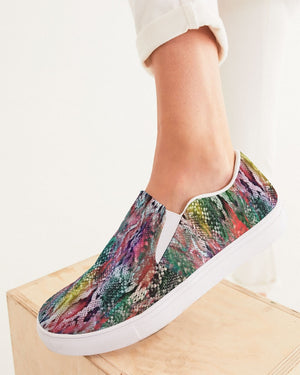 Safari | Rainbow Trout Women's Slip-On Canvas Shoe - Katrynthia Law
