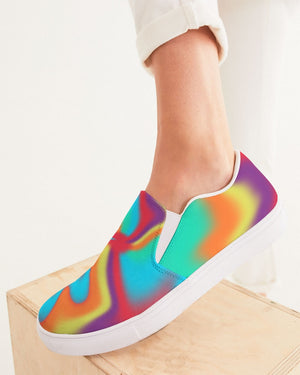 Tie Dye | Color Warp 2 Women's Slip-On Canvas Shoe - Katrynthia Law