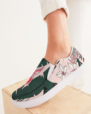 Floral | Pink Jungle Women's Slip-On Canvas Shoe - Katrynthia Law