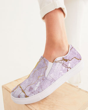 Ethereal | Light Marble Women's Slip-On Canvas Shoe - Katrynthia Law