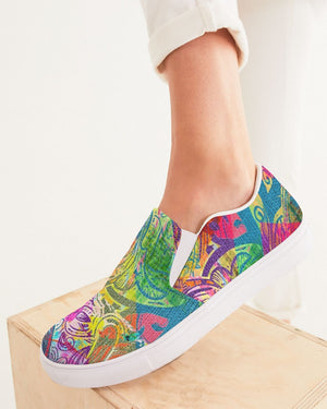 Dreamscape | Limitless Adventure Women's Slip-On Canvas Shoe - Katrynthia Law