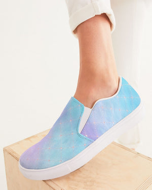 Ethereal | Purple Sky Women's Slip-On Canvas Shoe - Katrynthia Law