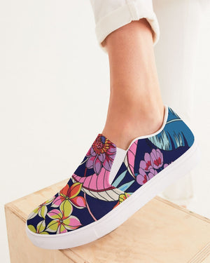Floral | Evening Bouquet Women's Slip-On Canvas Shoe - Katrynthia Law