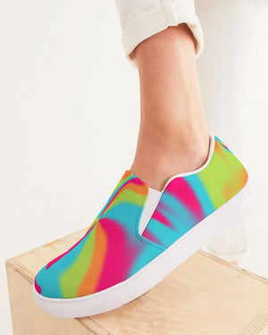 Tie Dye | Color Warp 1 Women's Slip-On Canvas Shoe - Katrynthia Law