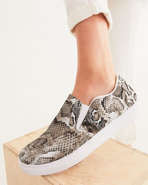 Safari | Python Women's Slip-On Canvas Shoe - Katrynthia Law