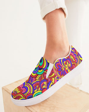 Psychedelic | Live Your Life Women's Slip-On Canvas Shoe - Katrynthia Law