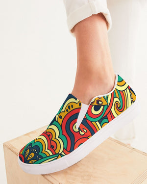 Psychedelic | Down to Earth Women's Slip-On Canvas Shoe - Katrynthia Law