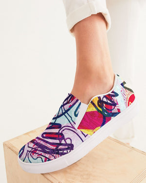 Dreamscape | Beautiful Mess Women's Slip-On Canvas Shoe - Katrynthia Law
