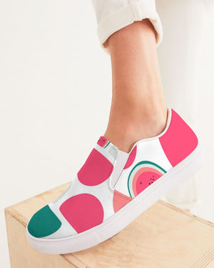 Summer | Abstract Melon Women's Slip-On Canvas Shoe - Katrynthia Law
