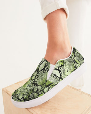 Safari | Green Diamondback Women's Slip-On Canvas Shoe - Katrynthia Law
