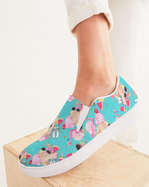 Summer | Strawberry on Top Women's Slip-On Canvas Shoe - Katrynthia Law