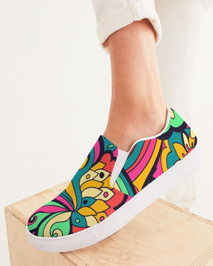 Psychedelic | Keep Dreaming Women's Slip-On Canvas Shoe - Katrynthia Law