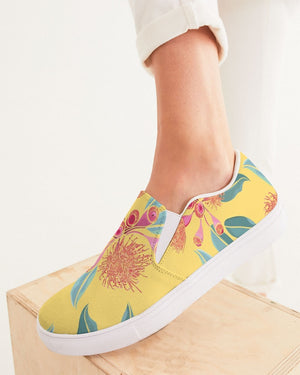 Floral | Golden Hour Women's Slip-On Canvas Shoe - Katrynthia Law