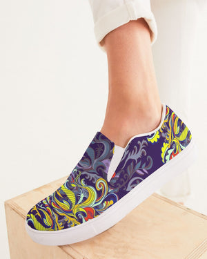 Psychedelic | Purple & Free Women's Slip-On Canvas Shoe - Katrynthia Law