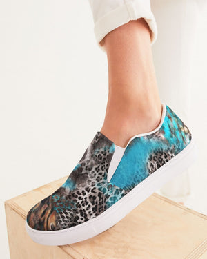 Safari | Cheetah Scales Women's Slip-On Canvas Shoe - Katrynthia Law