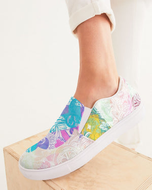 Dreamscape | Heavenly Winds Women's Slip-On Canvas Shoe - Katrynthia Law