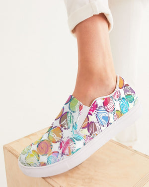 Dreamscape | Whimsical Rainbow Women's Slip-On Canvas Shoe - Katrynthia Law