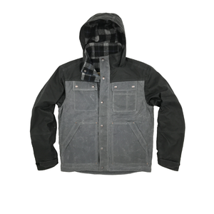 Electric Company Waxed Parka- Cement / Black