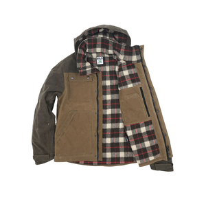 Electric Company Waxed Parka- Vermont Tan / Dark Oak