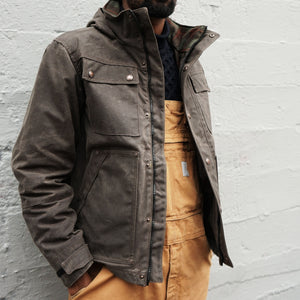 Electric Company Waxed Parka- Chocolate