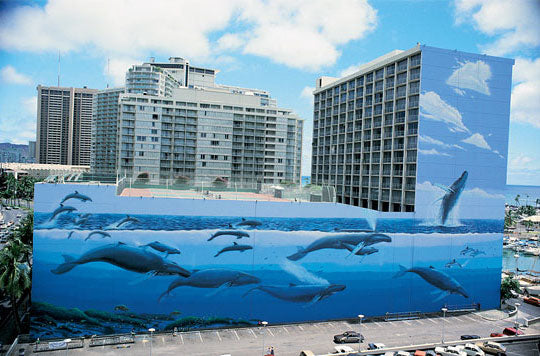 Wyland, whaling wall, Hawaiian Humpbacks mural
