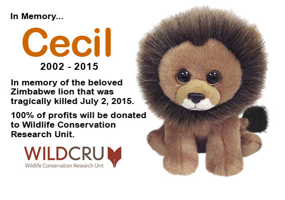 Cecil the Lion Beanie Baby proceeds will be donated to the Wildlife Conservation Research Unit