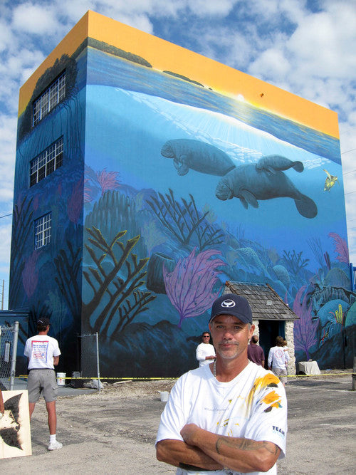 Wyland mural in Key Largo, Florida