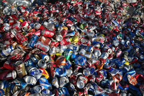 Aluminum cans that haven't been recycled