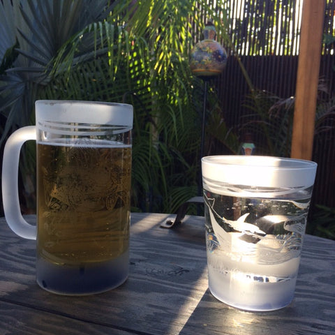 Water Gallery glass drinkware beer mug and water glass