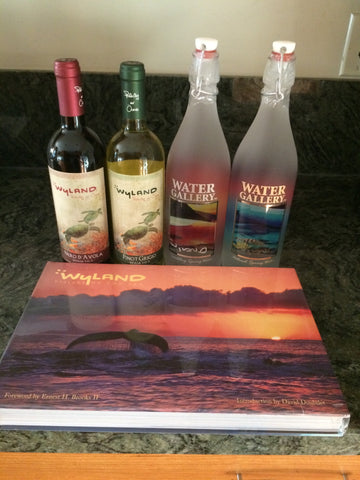 with organic Wyland wine and a gorgeous Wyland book!