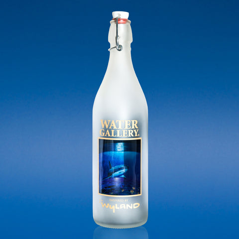 Water Gallery glass water bottle featuring Shark Reef by Wyland