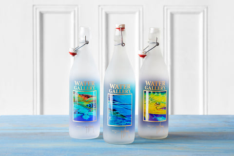 Gallery Drinkware's Guy Harvey bottles featuring Hawksbill Caravan, Spanish Sailfish, and Golden Prize