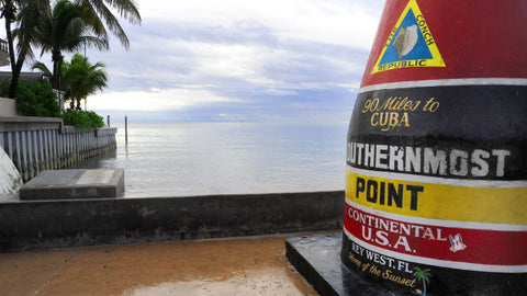 90 Mile Marker at the southernmost tip of the United States